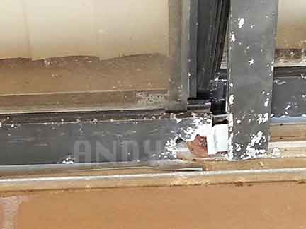 Is Your Sliding Glass Patio Door Track Damaged Andys Sliding